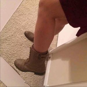 Rampage Taupe Combat boots
